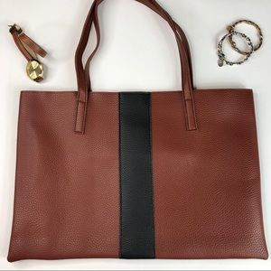 NEW Vince Camuto Brown Leather Tote Bag
